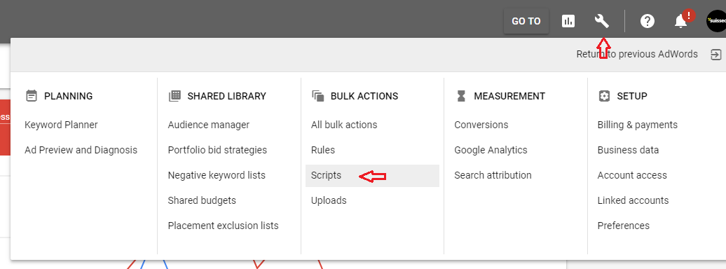 google adwords scripts how to clear an spreadsheet